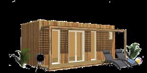 Poolhouse préfabriqué design Greenkub